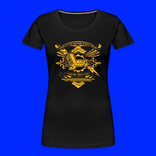 Vintage Leet Sauce Studios Crest Gold - Women's Premium Organic T-Shirt