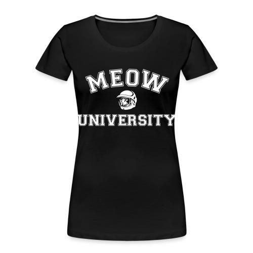 meow university - Women's Premium Organic T-Shirt