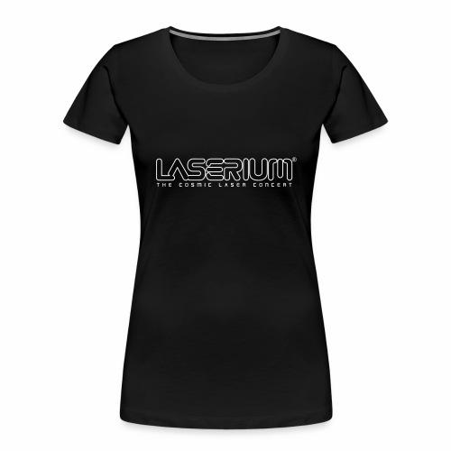 Laserium Logo OL White Tag - Women's Premium Organic T-Shirt
