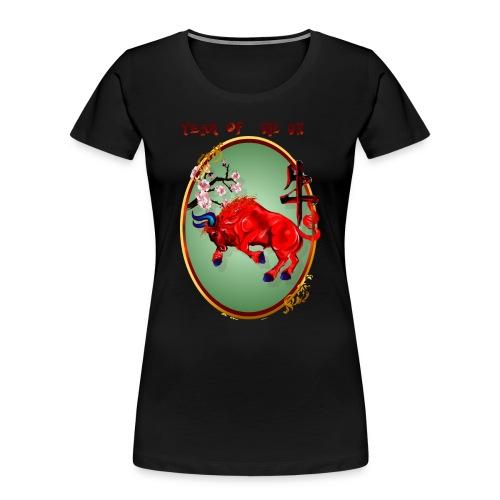 The Red Ox Oval - Women's Premium Organic T-Shirt