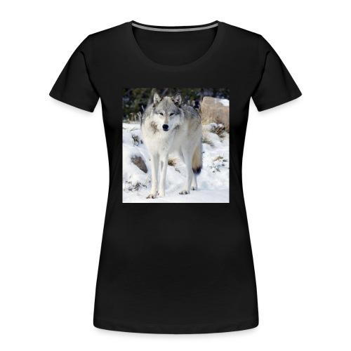 Canis lupus occidentalis - Women's Premium Organic T-Shirt