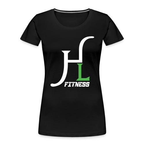 HIIT Life Fitness Logo White - Women's Premium Organic T-Shirt