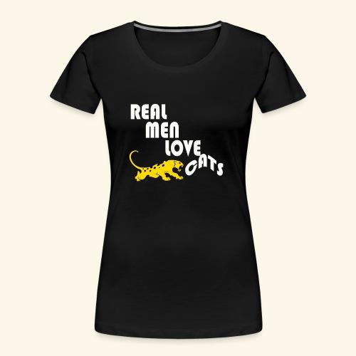 Real Men Love Cats T-Shirt for cat people tee - Women's Premium Organic T-Shirt