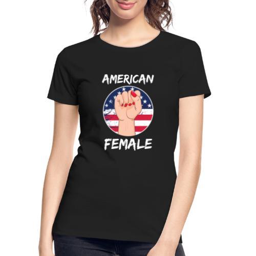 THE AMERICAN FEMALE - Women's Premium Organic T-Shirt