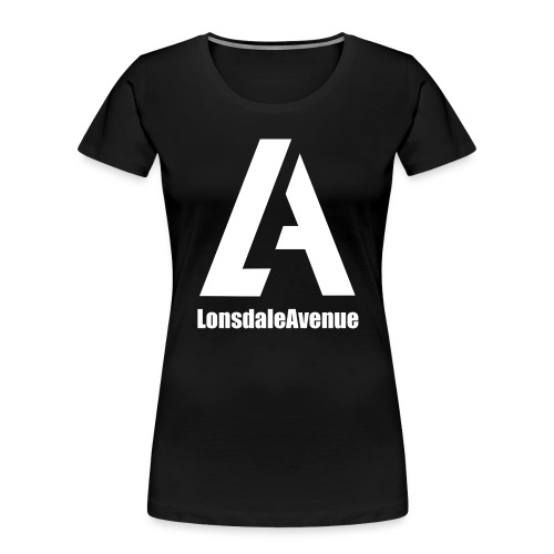 Lonsdale Avenue Logo White Text - Women's Premium Organic T-Shirt