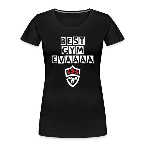 Best Gym Evaaa White and Red - Women's Premium Organic T-Shirt