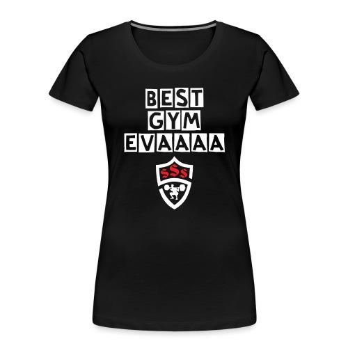 Best Gym Evaaa White and Red - Women's Premium Organic T-Shirt