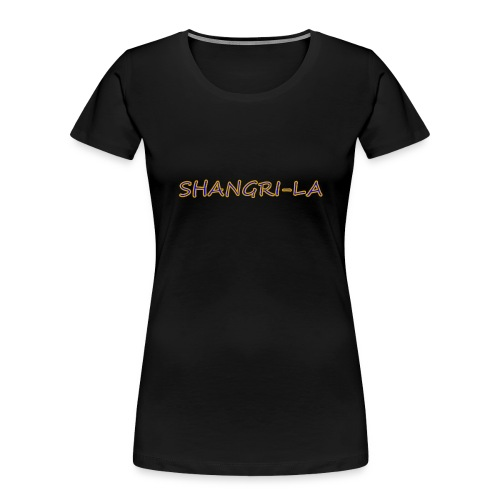 Shangri La gold blue - Women's Premium Organic T-Shirt
