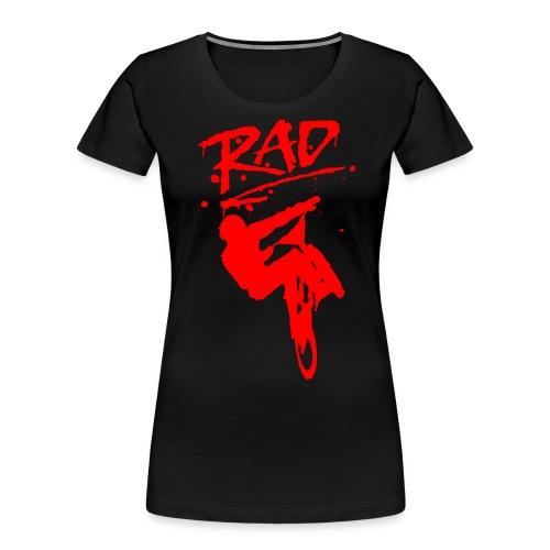 RAD BMX Bike Grafitti 80s Movie Radical T shirts - Women's Premium Organic T-Shirt