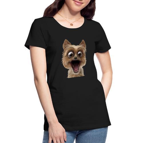 Dog puppy pet surprise pet - Women's Premium Organic T-Shirt