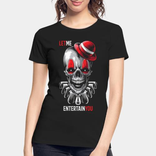 clown entertain horror - Women's Premium Organic T-Shirt