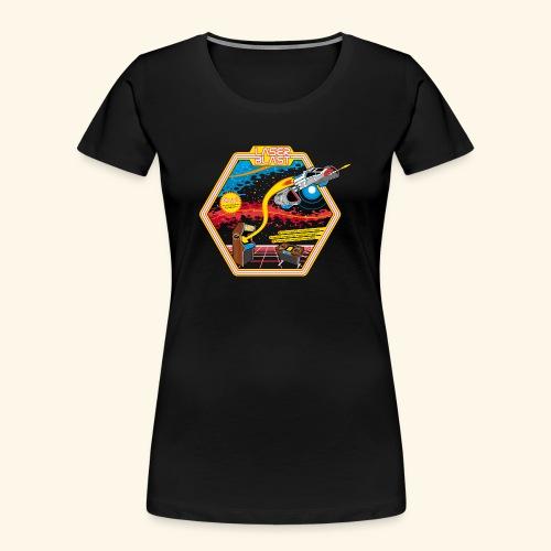 LaserBlast (for darkshirts) - Women's Premium Organic T-Shirt