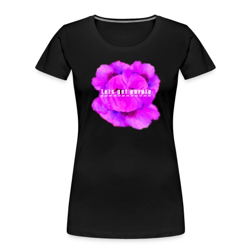 lets_get_purple_2 - Women's Premium Organic T-Shirt