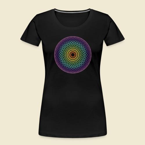 Torus Yantra Hypnotic Eye rainbow - Women's Premium Organic T-Shirt