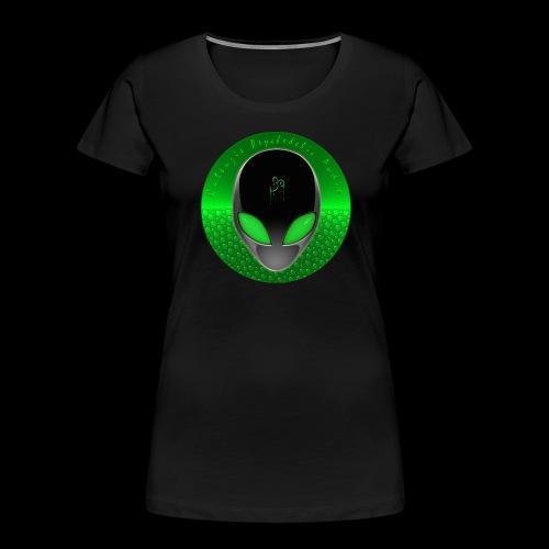 Psychedelic Alien Dolphin Green Cetacean Inspired - Women's Premium Organic T-Shirt