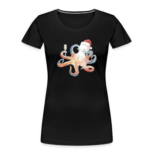 Christmas cephalopod - Women's Premium Organic T-Shirt