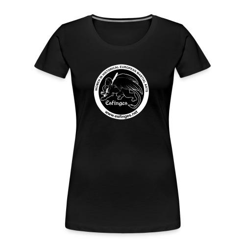 Esfinges Logo Black - Women's Premium Organic T-Shirt