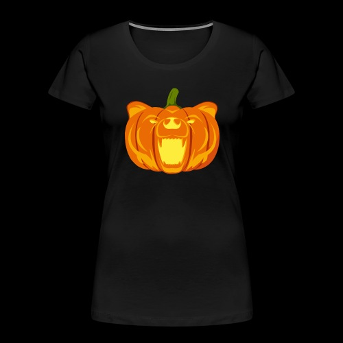 Pumpkin Bear - Women's Premium Organic T-Shirt