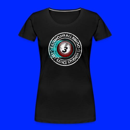 Vintage Cannonball Bingo 8-Bit Ball Tee - Women's Premium Organic T-Shirt