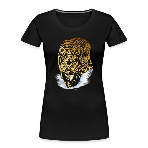 Golden Snow Tiger - Women's Premium Organic T-Shirt
