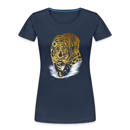 Golden Snow Tiger - Women's Premium Organic T-Shirt