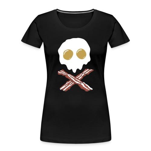 Breakfast Skull - Women's Premium Organic T-Shirt