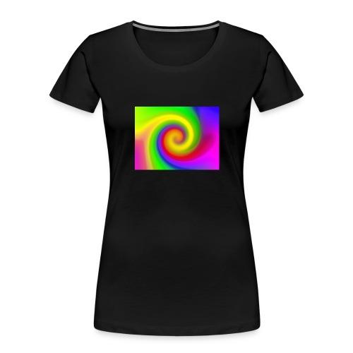 color swirl - Women's Premium Organic T-Shirt