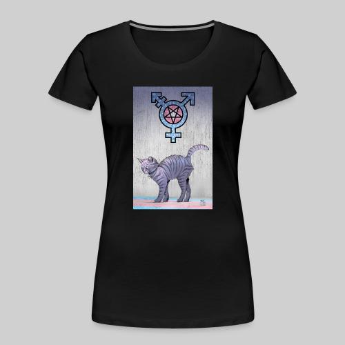 Trans Satanic Cat - Women's Premium Organic T-Shirt