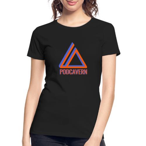 PodCavern Logo - Women's Premium Organic T-Shirt