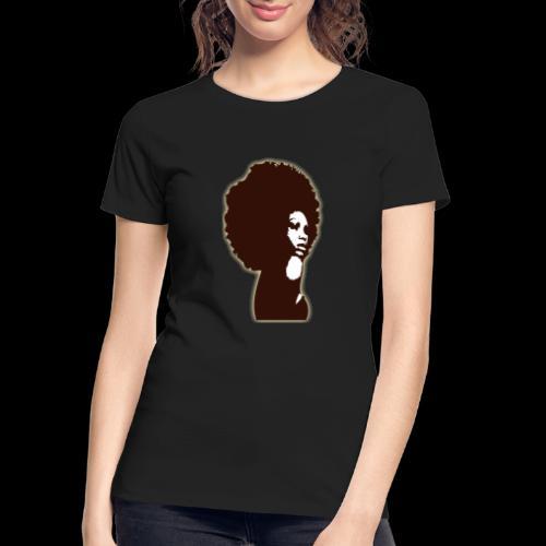 Brown Afro - Women's Premium Organic T-Shirt