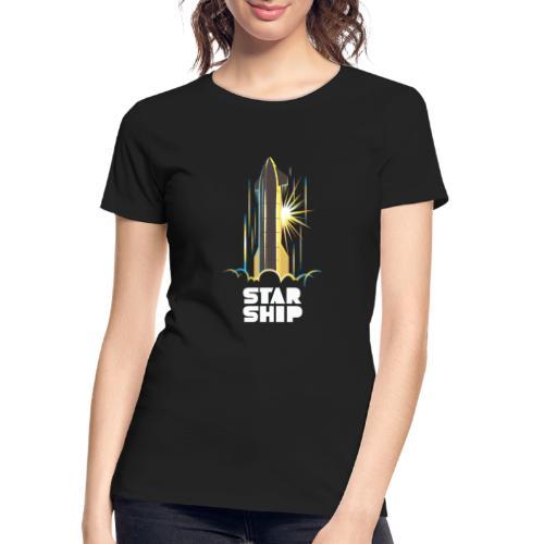 Star Ship Earth - Dark - Women's Premium Organic T-Shirt