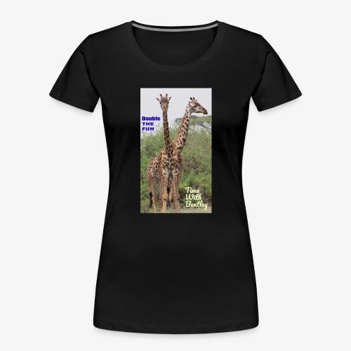 Two Headed Giraffe - Women's Premium Organic T-Shirt
