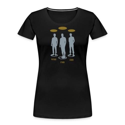 Pathos Ethos Logos 1of2 - Women's Premium Organic T-Shirt