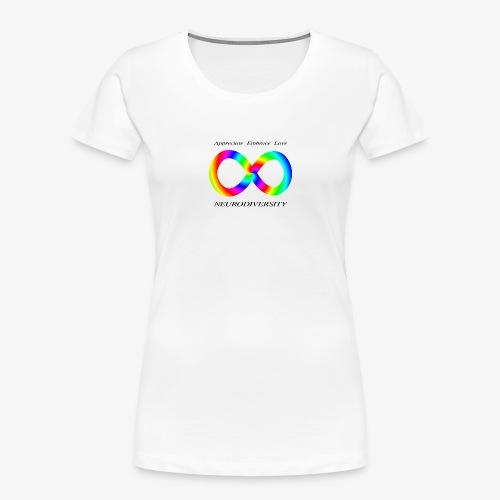 Embrace Neurodiversity with Swirl Rainbow - Women's Premium Organic T-Shirt