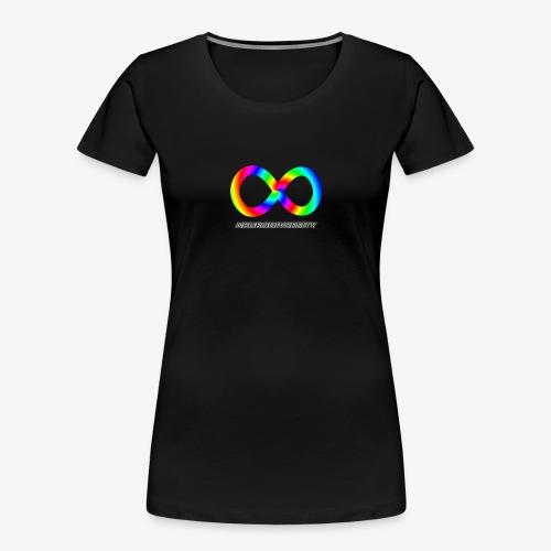 Neurodiversity with Rainbow swirl - Women's Premium Organic T-Shirt
