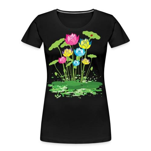 colorful waterlilies flowers - Women's Premium Organic T-Shirt