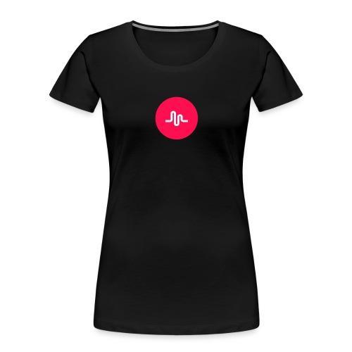 Musical.ly logo - Women's Premium Organic T-Shirt