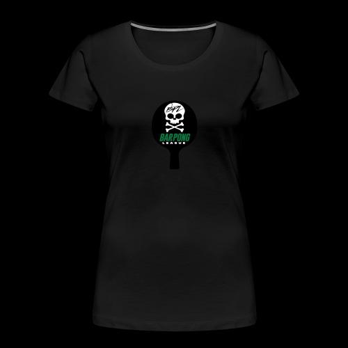 Bar Pong Paddle Logo - Women's Premium Organic T-Shirt