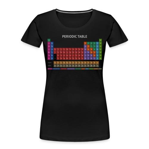 Periodic Table T-shirt (Dark) - Women's Premium Organic T-Shirt