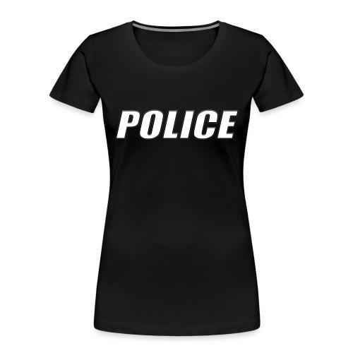 Police White - Women's Premium Organic T-Shirt
