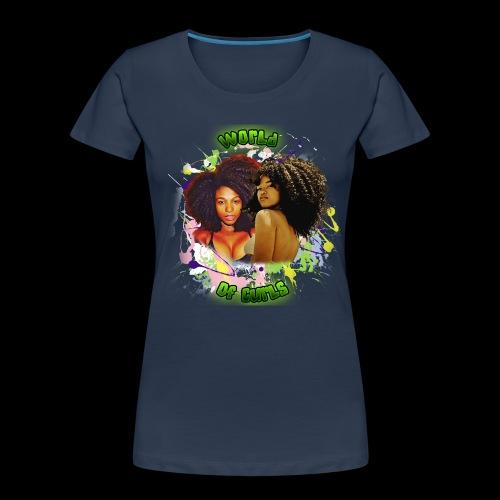 World of Curls - Women's Premium Organic T-Shirt
