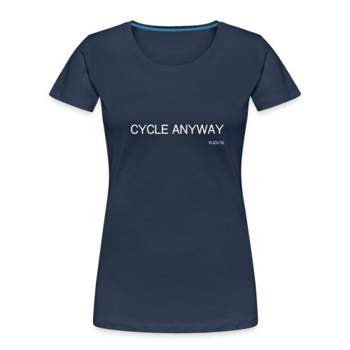 CYCLE, white font - Women's Premium Organic T-Shirt