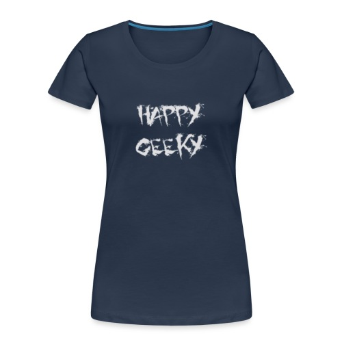 Happy_Geeky_-_Logo_White - Women's Premium Organic T-Shirt