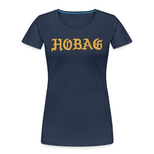 BLUE - HOBAG LETTERING - Women's Premium Organic T-Shirt