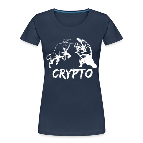 CryptoBattle White - Women's Premium Organic T-Shirt