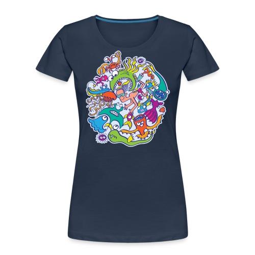 Summer swimming with weird dangerous sea creatures - Women's Premium Organic T-Shirt