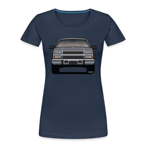 Design Icon: American Bowtie Silver Urban Truck - Women's Premium Organic T-Shirt