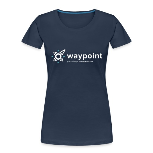 Waypoint Logo (Light Version) - Women's Premium Organic T-Shirt