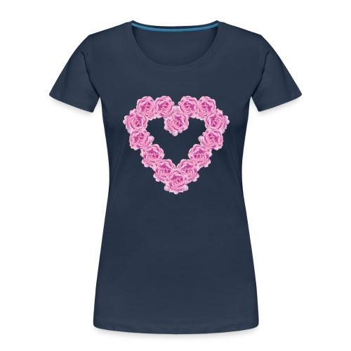 Peony heart - Women's Premium Organic T-Shirt