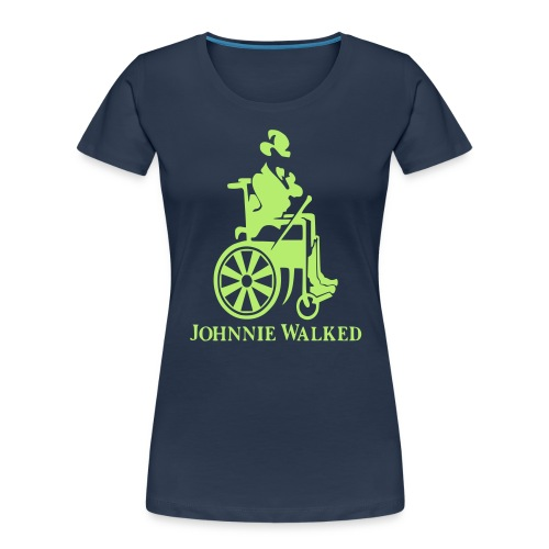 Johnnie Walked, Wheelchair fun, whiskey and roller - Women's Premium Organic T-Shirt